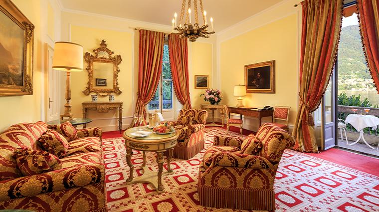villa deste lago di como presidential living room and lake view