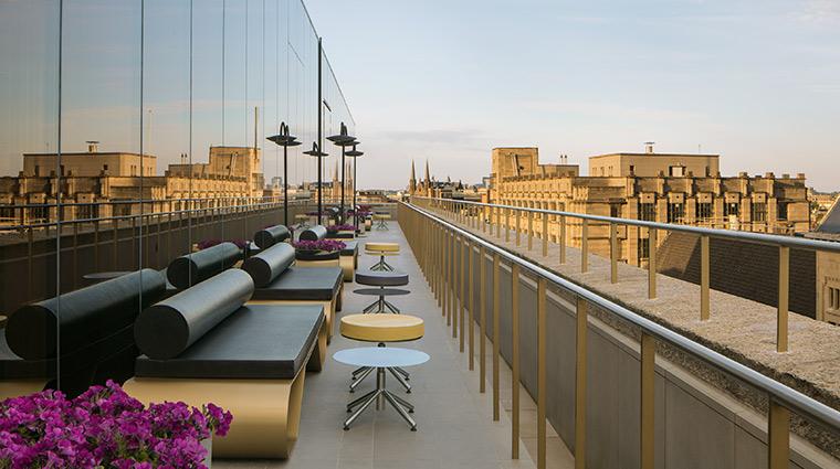 w amsterdam lounge terrace