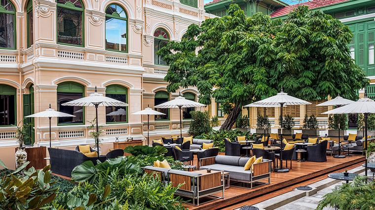 W Bangkok courtyard