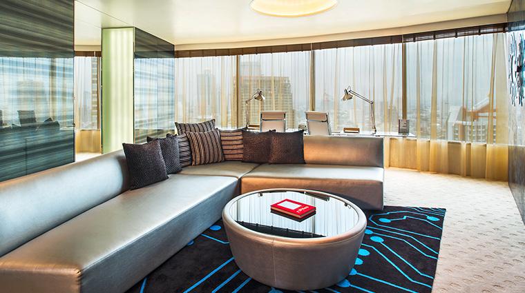 W Bangkok wow suite living room