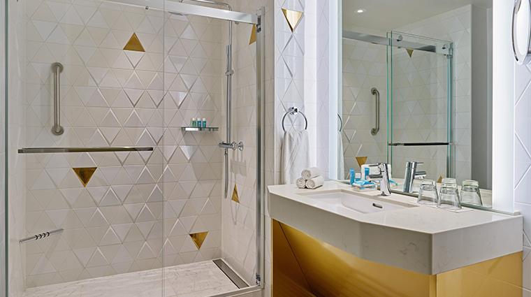 w san francisco cool corner guest bathroom
