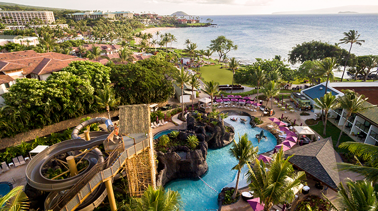 wailea beach resort marriott maui aerial