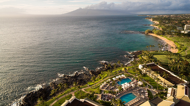 wailea beach resort marriott maui beach aerial