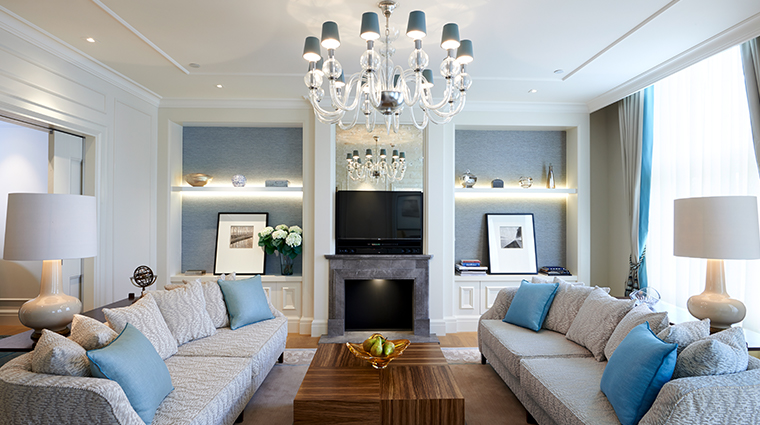 waldorf astoria amsterdam Brentano suite living room