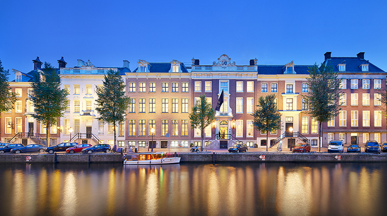 waldorf astoria amsterdam new exterior night