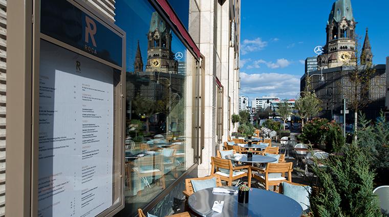 waldorf astoria berlin Roca Restaurant terrace