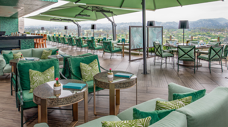 waldorf astoria beverly hills rooftop seating new