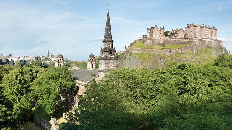 waldorf astoria edinburgh the caledonian castle view