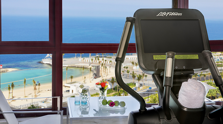 waldorf astoria jeddah gym view