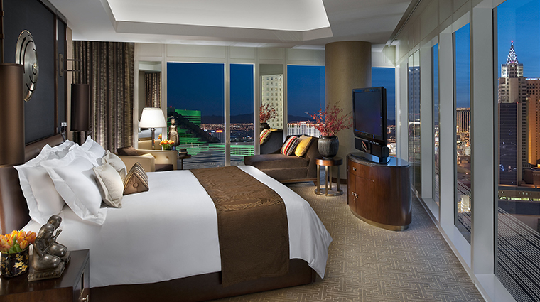 mandarin oriental las vegas apex suite bedroom