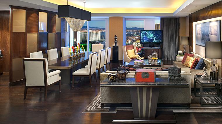 mandarin oriental las vegas apex suite living room