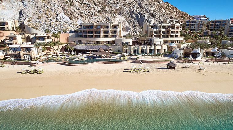 waldorf astoria los cabos pedregal view from beach