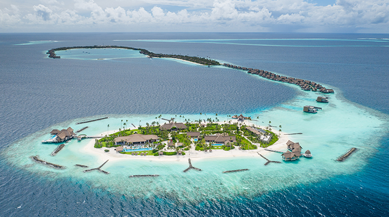 waldorf astoria maldives ithaafushi aerial