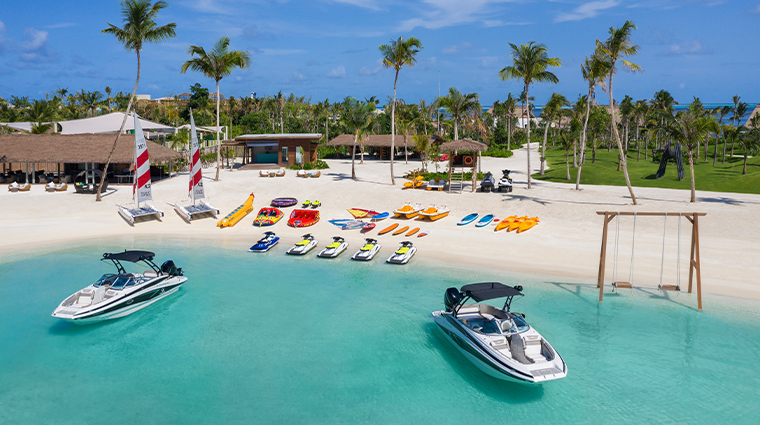 waldorf astoria maldives ithaafushi nava water sport center