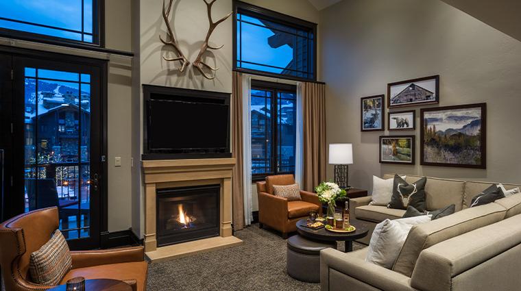 waldorf astoria park city Bilevel Suite Living Room