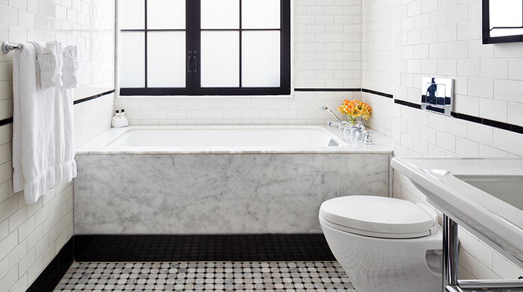 walker hotel greenwich village terrace tub