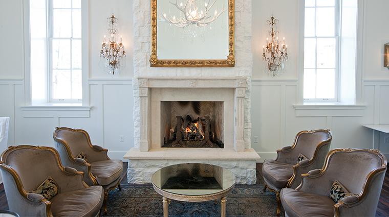 washington school house living room fireplace front