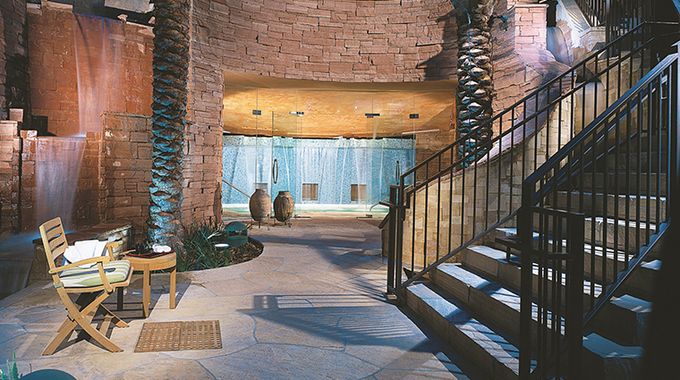 well being spa at fairmont scottsdale princess waterfall grotto