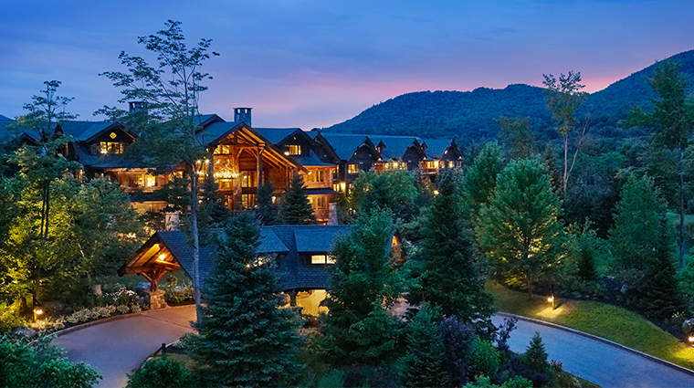 whiteface lodge resort spa exterior summer