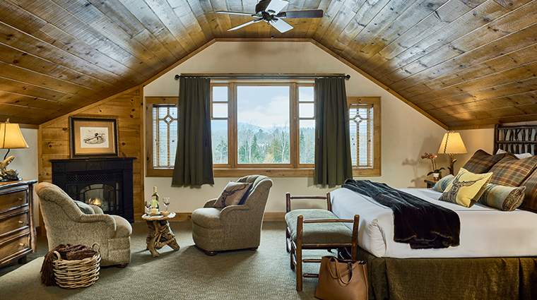 whiteface lodge resort spa guestroom fire