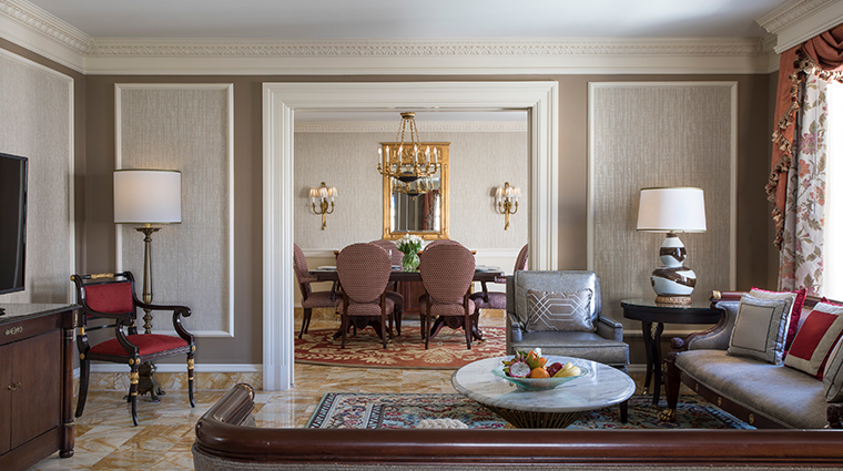 willard intercontinental john adams presidential suite living room
