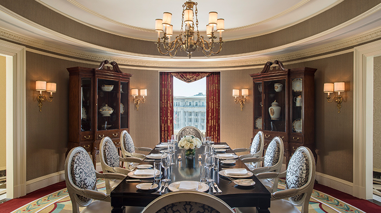 willard intercontinental thomas jefferson presidential suite dining room